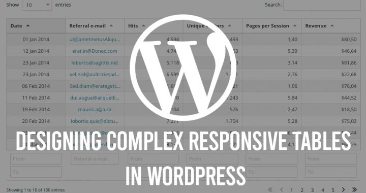 Designing Complex Responsive Tables In WordPress