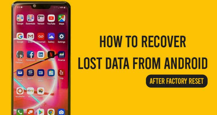 recover data from android after factory reset
