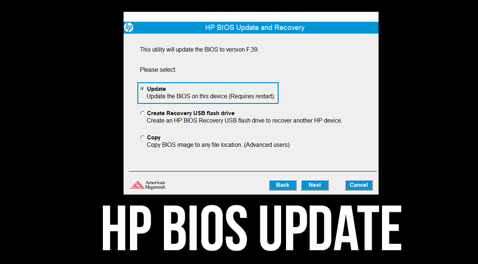 hp bios update